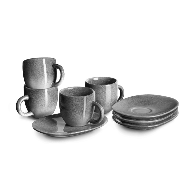 Espressotasse mit Untertasse Misty Cliff 4er-Set